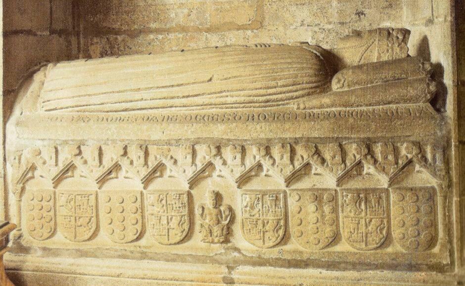 Sepulcro da raíña Xoana de Castro. Esposa do rei Pedro I de Castela (m. 1374)