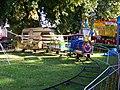Sezimovo Ústí, Husovo náměstí, dětský vláček.jpg