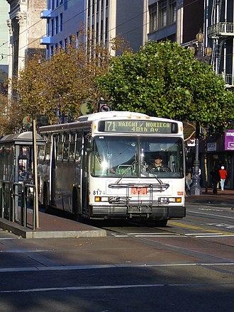 San Francisco Municipal Railway fleet - Image: Sfmuni 8174 civiccenter