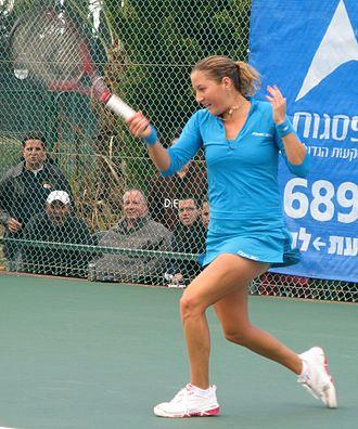 Shahar Pe'er - Shahar Pe'er at Israeli tennis championship; 2008