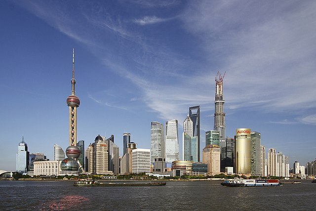 Pudong By PierreSelim (Self-photographed) [CC BY 3.0 (http://creativecommons.org/licenses/by/3.0), FAL or GFDL (http://www.gnu.org/copyleft/fdl.html)], via Wikimedia Commons