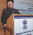 Sharad Pawar addressing the National Conference of State Ministers of Animal Husbandry, Dairy Development and Fisheries, in New Delhi on February 06, 2013.jpg