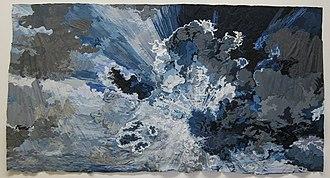 Jim Hodges (artist) - Image: Sharon Mollerus Photo of Jim Hodges painting