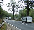 Sharp Righthand bend on Handcross Hill (A23 Southbound) - geograph.org.uk - 69937.jpg