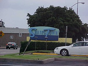 Sharpstown, Houston - Sharpstown Mall sign