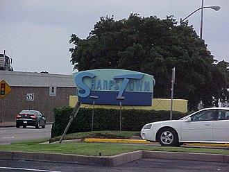 Sharpstown, Houston - Sharpstown Mall sign