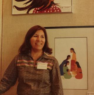 Sharron Ahtone Harjo Contemporary Kiowa painter and ledger artists