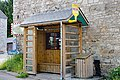 Shed at the bus stop in the Belgian Ardennes.jpg