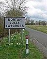 Shelford Lane enters Norton Juxta Twycross - geograph.org.uk - 739795.jpg