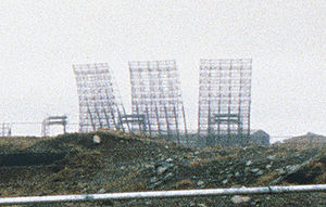 AN/FPS-17 - AN/FPS-17 antennas at Shemya, Alaska.