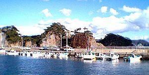 Shikine-jima - port at Shikinejima