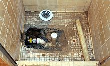 Shower on old shower drain diagram