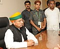 Shri Arjun Ram Meghwal taking charge as Minister of State for Corporate Affairs, in New Delhi on July 06, 2016.jpg