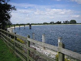 River Bourne, Warwickshire - Shustoke Reservoir is supplied by the Bourne