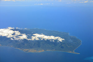 Sibuyan Sea - Aerial view of Sibuyan Island within the sea