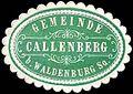Siegelmarke Gemeinde Callenberg bei Waldenburg - Sachsen W0253631.jpg