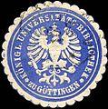Siegelmarke Königliche Universitäts - Bibliothek zu Göttingen W0226187.jpg