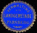 Siegelmarke Verwaltung der Landgemeinde Parsberg W0227644.jpg