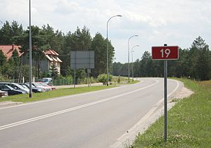National road 19 (Poland) - Road 19 in Siemiatycze