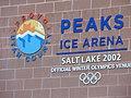 Sign on Peaks Ice Arena, Feb 17.jpg
