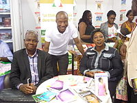 WCUG-CI with some members of the Association of Writers Côte d'Ivoire, Abidjan Book Fair