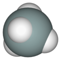 Spacefill model of silane