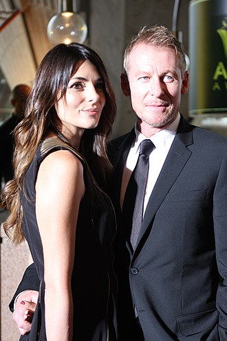 Richard Roxburgh - Roxburgh with his wife, Silvia Colloca, at the AACTA Awards 2012, Sydney, Australia