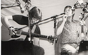 Dave Swarbrick - Dave Swarbrick (right) with Simon Nicol at the 1981 Essex Festival