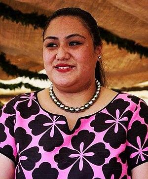 Sinaitakala Fakafanua - Sinaitakala at the final day of the festivities of her parents-in-law's coronation