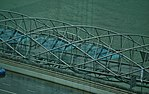 Singapore Helix Bridge viewed from Singapore Flyer 4.jpg
