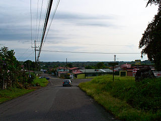Siquirres City in Limón Province, Costa Rica
