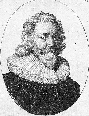 Benjamin Rudyerd - Contemporary engraving of Benjamin Rudyerd by Wenceslas Hollar