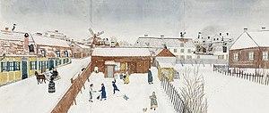 1854 in Sweden - Sjöberg Högbergsgatan 1850-tal vinter