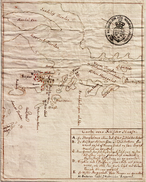 Isak Lauritssøn Falck - Historic map of Risør