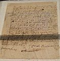 Slave document, 1764 - Framingham History Center - DSC00395.JPG