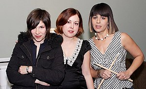 Sleater-Kinney - Sleater-Kinney in 2006. Left-right: Carrie Brownstein, Corin Tucker and Janet Weiss.