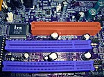 Slots AGP & PCI on Motherboard P4VMM2 MCS.JPG