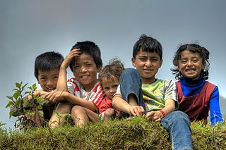 Childhood Sociological term describing human age from birth to adolescence