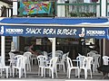 Snack Bora Burger - One of 42 things to do before you die, Ice Cold Hinano washed down with a Bora Burger - panoramio.jpg