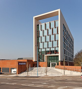 Hampshire Constabulary - The newly completed Southampton Central Police Station
