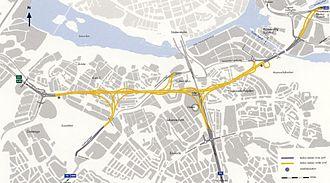 Södra länken - Södra Länken, Vägverkets map