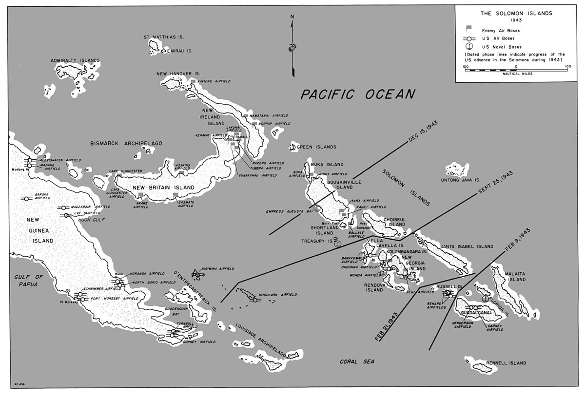 Solomon Islands Campaign Wikipedia - West pacific islands map 1998