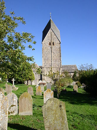 Church of St Mary the Blessed Virgin, Sompting - The Rhenish helm on the church tower
