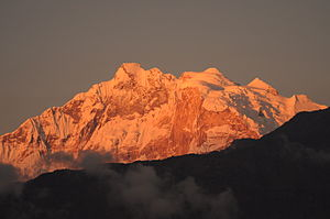 Annapurna I Middle Peak - Image: South face of Mount Annapurna (44)