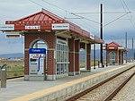 Southeast at 5600 W Old Bingham Hwy station platform, Apr 16.jpg