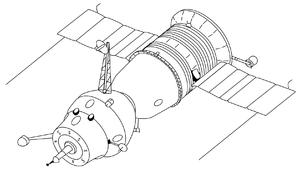 Soyuz 7K-OK - Soyuz 7K-OK(A) spacecraft with an active docking unit