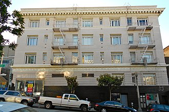 Dashiell Hammett - Building at 891 Post St. where Hammett lived while writing The Maltese Falcon: The character Sam Spade may have also lived in the building.
