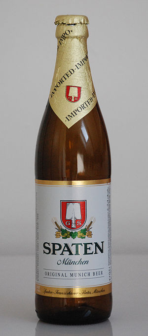 Spaten-Franziskaner-Bräu - A bottle of Spaten