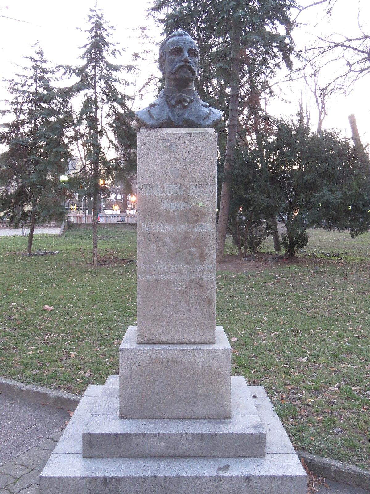 File Spomenik Jovanu Jovanovicu Zmaju U Pancevu Jpg Wikimedia