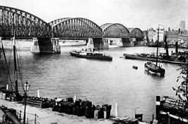 De Willemsspoorbrug in 1925